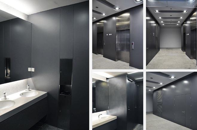 浅灰色墙体装修效果图-天花灰色墙漆