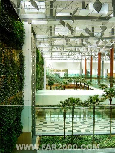 """中国室内设计网 - 新闻 - 新加坡樟宜机场修建""""绿色"""""""