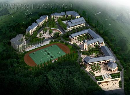 援建灾区学校建筑设计方案-骑马小学