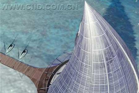 巨型水滴度假胜地 高科技建筑设计(图)